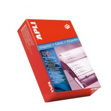 Etikett, mátrixnyomtatókhoz, 3 pályás, 101,6x36 mm, APLI, 12000 etikett/csomag