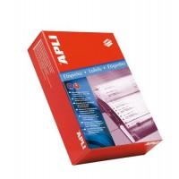 Etikett, mátrixnyomtatókhoz, 1 pályás, 101,6x74,1 mm, APLI, 2000 etikett/csomag
