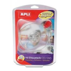CD/DVD címkeillesztő készlet, APLI