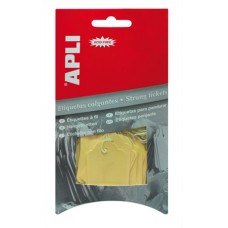 Árazócímke, 22x35 mm, APLI, sárga