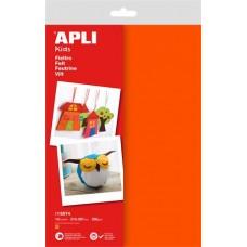 Filc anyag, APLI, narancssárga