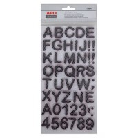 Matrica, ABC, pöttyös, APLI, sötétbarna