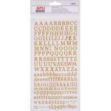 Matrica, ABC, csillogó, APLI, arany