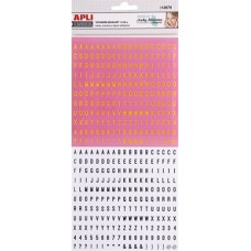 Matrica, ABC, APLI, citromsárga-fekete