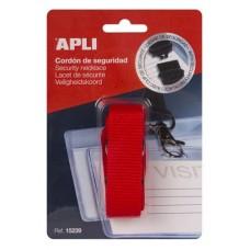 Nyakbaakasztó névkitűzőhöz és azonosítókártya tartóhoz, APLI, piros