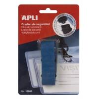 Nyakbaakasztó névkitűzőhöz és azonosítókártya tartóhoz, APLI, kék