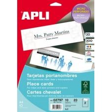 Ültetőkártya, 180x125 mm, mikroperforált, APLI, fehér