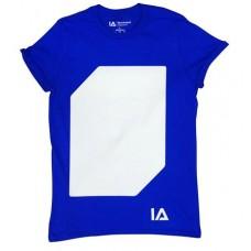 Póló, L méret, sötétben világít, ILLUMINATED APPAREL, kék