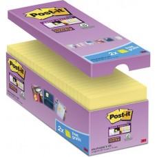Öntapadó jegyzettömb csomag, 76x76 mm, 16x90 lap, 3M POSTIT