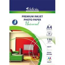 Fotópapír, tintasugaras, A4, 120 g, matt, VICTORIA