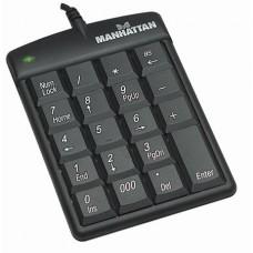 Numerikus billentyűzet, vezetékes, USB, MANHATTAN