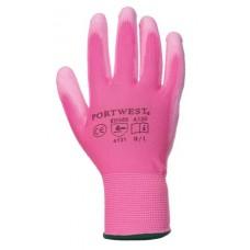 Szerelőkesztyű, tenyéren mártott, 7-es méret, rózsaszín