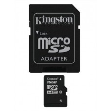 Memóriakártya, Micro SDHC, 16GB, Class 10, adapterrel, KINGSTON