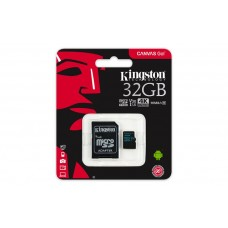 Memóriakártya, microSDHC, 32GB, CL10/U3, 90/45 MB/s, adapter, KINGSTON