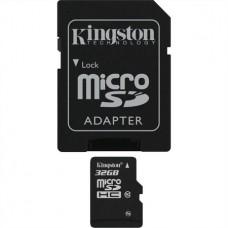 Memóriakártya, Micro SDHC, 32GB, Class 10, adapterrel, KINGSTON