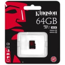 Memóriakártya, MicroSDXC, 64GB, KINGSTON