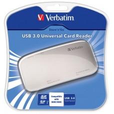 Kártyaolvasó, univerzális, USB 3.0 csatlakozás, VERBATIM