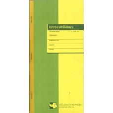 Nyomtatvány, kézbesítőkönyv, 100 lap, ÁLLAMI NYOMDA,