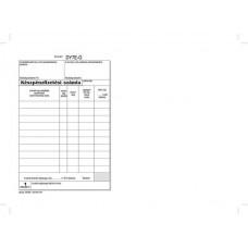 Nyomtatvány, *készpénzfizetési számlatömb, egy ÁFÁs, 50x2, A5, VICTORIA,