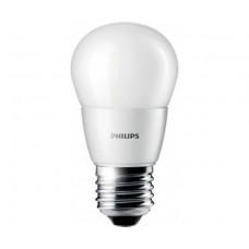 LED izzó, E27, csillár, 7W, 830lm, 230V, 4000K, P48, PHILIPS
