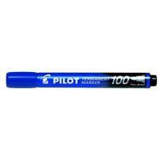 "Alkoholos marker, 1 mm, kúpos, PILOT ""Permanent Marker 100"", kék"