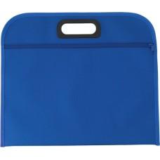 Konferenciatáska műanyag füllel, kék