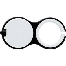 Kulcstartó LED-lámpával, fekete