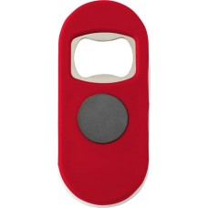 Üvegnyitó mágnessel,  jegyzetcsipesz funkcióval, piros