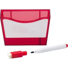 Mágneses tároló, műanyag, piros