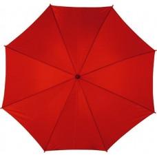 Automata esernyő, hajlított fa nyéllel, piros