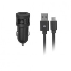 Autós töltő, USB, 1A, micro USB kábellel, RIVACASE