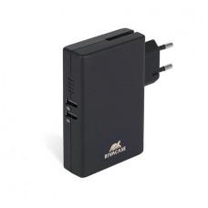 Hordozható akkumulátor, microUSB, 5000 mAh, hálózati adapter, RIVACASE