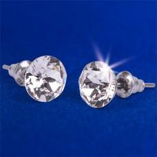 Fülbevaló Crystals from SWAROVSKI®  natúr fehér, 8mm