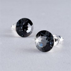 Fülbevaló, Crystals from SWAROVSKI®,  black diamond, 8mm