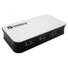 USB elosztó-HUB, 4 portos, USB 3.0, SANDBERG