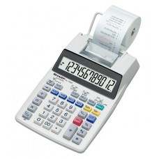Számológép, szalagos, 12 számjegy, 2 színű nyomtató, SHARP