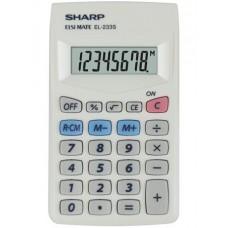 Zsebszámológép, 8 számjegy, SHARP