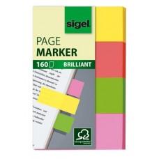 Jelölőcímke, papír, 4x40 lap, 20x50 mm, SIGEL