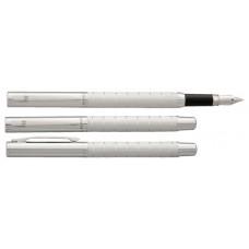 Töltőtoll, M, ezüstszínű tolltest, krómszínű klip, VUARNET