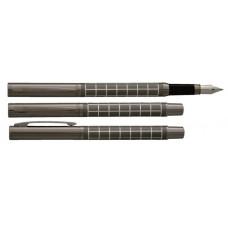 Töltőtoll, M, fekete tolltest, krómszínű klip, VUARNET
