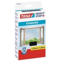 Szúnyogháló, ablakra, tépőzáras, 1,5 x 1,8 m, TESA, antracit