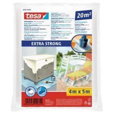 Takarófólia, lépésálló, extra erős, 5 m x 4 m, TESA