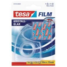 Ragasztószalag adagoló, kézi, TESA + 2 db 15mm x 10 m ragasztószalag