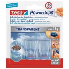 Műanyag akasztó ragasztócsíkkal, TESA