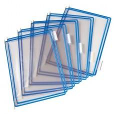 Bemutatótábla, A4, acélkeretes, TARIFOLD, kék