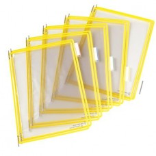 Bemutatótábla, A4, acélkeretes, TARIFOLD, sárga