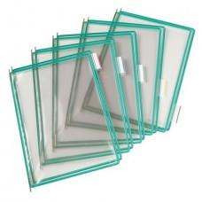 Bemutatótábla, A4, acélkeretes, TARIFOLD, zöld