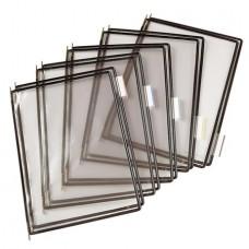 Bemutatótábla, A4, acélkeretes, TARIFOLD, fekete