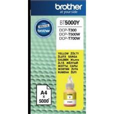 BT5000Y Tintapatron DCP T-300, 500W, 700W nyomtatókhoz, BROTHER sárga, 5K