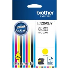 LC525XLY Tintapatron DCP-J100, J105 nyomtatókhoz, BROTHER sárga, 1300 oldal